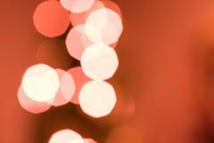 Indicatori luminosi di natale Defocused Fotografia Stock