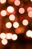 Indicatori luminosi di natale Defocused Fotografie Stock