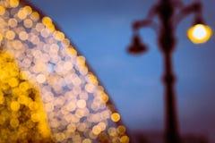 Indicatori luminosi di natale di Bokeh fotografie stock