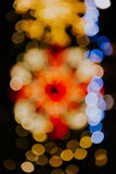 Indicatori luminosi di natale di Bokeh fotografia stock