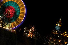 Indicatori luminosi di natale di Edinburgh fotografia stock