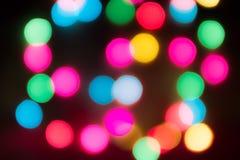 Indicatori luminosi di natale e bokeh Immagine Stock