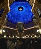 Indicatori luminosi di natale a Milano Fotografia Stock Libera da Diritti