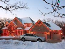 Indicatori luminosi di natale nel Minnesota Fotografie Stock Libere da Diritti