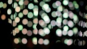 Indicatori luminosi di natale vaghi stock footage
