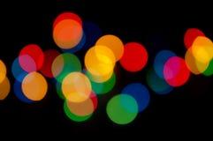 Indicatori luminosi di natale variopinti Fotografia Stock Libera da Diritti