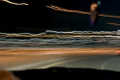 Indicatori luminosi di notte Fotografia Stock