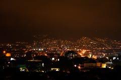 Indicatori luminosi di notte a Bogota Fotografie Stock Libere da Diritti