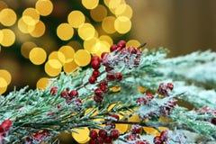 Indicatori luminosi di nuovo anno Fotografie Stock