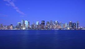 Indicatori luminosi di NYC Immagini Stock