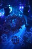 Indicatori luminosi di pista da ballo del locale notturno Fotografia Stock