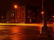 Indicatori luminosi di sera Fotografie Stock Libere da Diritti
