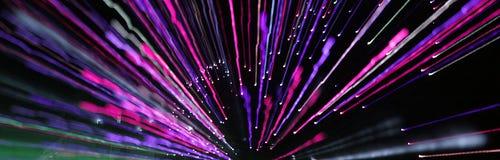 Indicatori luminosi di zumata in azzurro e nel colore rosa Fotografia Stock