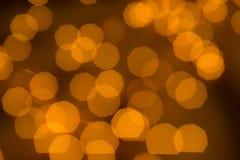 Indicatori luminosi dorati Defocused Fotografia Stock Libera da Diritti