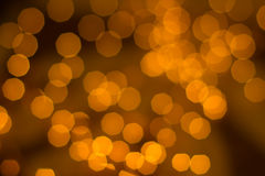 Indicatori luminosi dorati Defocused Immagini Stock Libere da Diritti