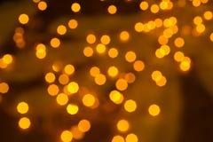 Indicatori luminosi dorati Defocused Immagine Stock Libera da Diritti