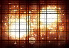 Indicatori luminosi dorati della discoteca Immagini Stock Libere da Diritti