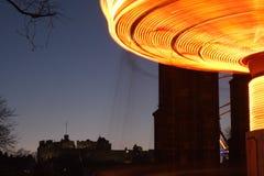 Indicatori luminosi e castello Fotografie Stock Libere da Diritti