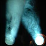 Indicatori luminosi e fumo fotografia stock