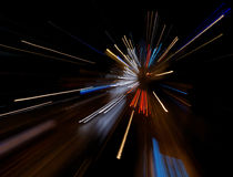 Indicatori luminosi e velocità astratti Immagine Stock Libera da Diritti