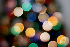 Indicatori luminosi festivi Immagini Stock