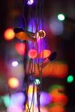 Indicatori luminosi festivi Immagini Stock Libere da Diritti