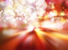 Indicatori luminosi festivi alla notte Fotografia Stock Libera da Diritti