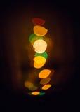 Indicatori luminosi gialli astratti Immagini Stock Libere da Diritti