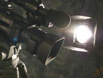 Indicatori luminosi, macchina fotografica, azione! Fotografia Stock Libera da Diritti