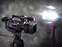 Indicatori luminosi, macchina fotografica, azione! Immagini Stock Libere da Diritti