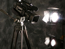 Indicatori luminosi, macchina fotografica, azione! immagini stock