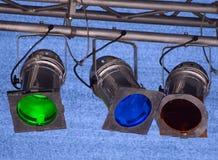 Indicatori luminosi multicolori del punto immagini stock libere da diritti