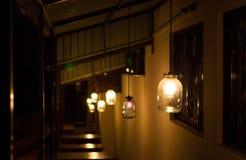 Indicatori luminosi originali di notte Fotografia Stock