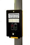 Indicatori luminosi pedonali. Fotografia Stock