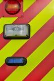 Indicatori luminosi posteriori dell'autopompa antincendio Immagini Stock