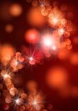 Indicatori luminosi rossi di celebrazione Immagine Stock