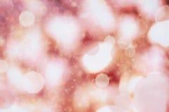 Indicatori luminosi rossi di festa Fotografia Stock