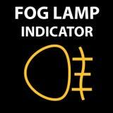 Indicatori luminosi sul cruscotto dell'automobile, progettazione ENV 10 dell'icona dei fari antinebbia Errore di codice di DTC Pi Fotografie Stock