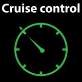 Indicatori luminosi sul cruscotto dell'automobile, progettazione ENV 10 dell'icona di controllo di crociera Errore di codice di D Immagine Stock Libera da Diritti