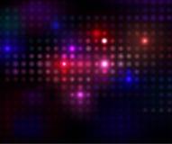 Indicatori luminosi sul nero Fotografia Stock