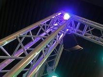 Indicatori luminosi teatrali della fase di concerto Fotografia Stock