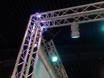Indicatori luminosi teatrali della fase di concerto Fotografia Stock Libera da Diritti