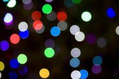 Indicatori luminosi vaghi dell'albero di Natale Fotografia Stock Libera da Diritti