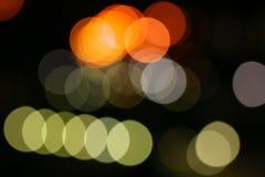 Indicatori luminosi vaghi della città Immagini Stock