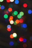 Indicatori luminosi vaghi della ghirlanda Fotografie Stock