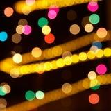 Indicatori luminosi variopinti di festa Fotografie Stock Libere da Diritti