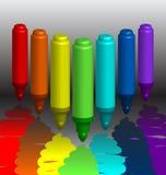 Indicatori Multi-colored royalty illustrazione gratis