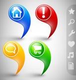 Indicatori personalizzabili Immagine Stock