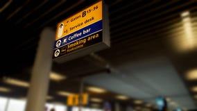 Indicatorraad die richting tonen aan de diensten voor passagiers bij luchthaventerminal royalty-vrije stock foto