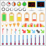 Indicators Collection Royalty Free Stock Photo